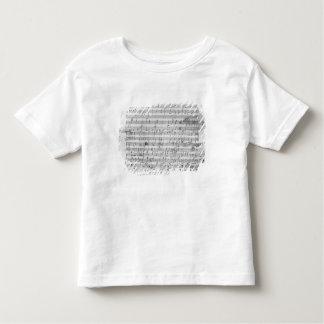 Autograph score sheet for the  Bagatelle opus Shirt