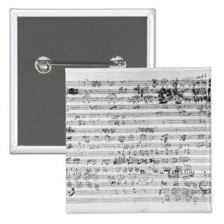 Autograph score sheet for the Trio mi bemol opus Button
