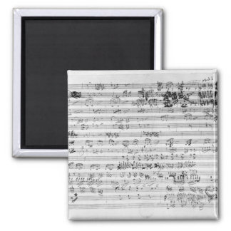 Autograph score sheet for the Trio mi bemol opus Fridge Magnet