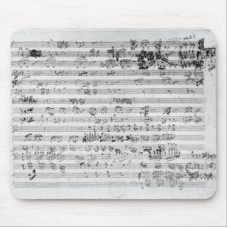 Autograph score sheet for the Trio mi bemol opus Mouse Pad
