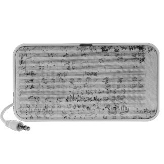Autograph score sheet for the Trio mi bemol opus Laptop Speaker