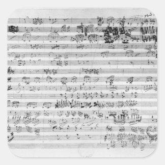 Autograph score sheet for the Trio mi bemol opus Square Sticker