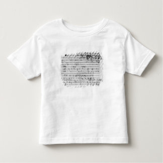 Autograph score sheet for the Trio mi bemol opus T-shirt