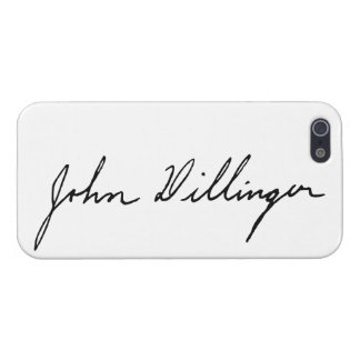 Autograph Signature of John Dillinger Cover For iPhone 5