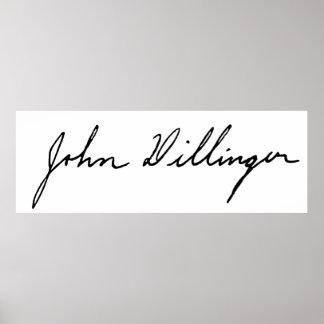Autograph Signature of John Dillinger Print
