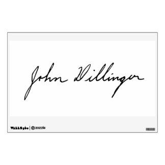 Autograph Signature of John Dillinger Wall Decal