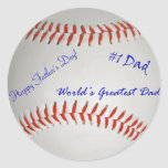 Autographed Baseball Classic Round Sticker