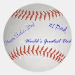 Autographed Baseball Round Sticker