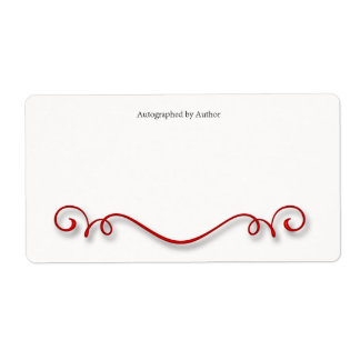 Autographed by Author Bookplate Custom Shipping Labels