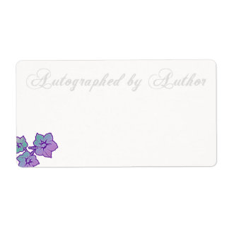 Autographed by Author Bookplate Custom Shipping Label