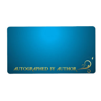 Autographed by Author Gold on Blue Label