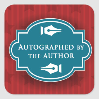 Autographed by the Author Square Glossy Sticker