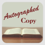 Autographed Copy Book Stickers for Author Signings