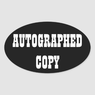 Autographed Copy - Oval Stickers (10)