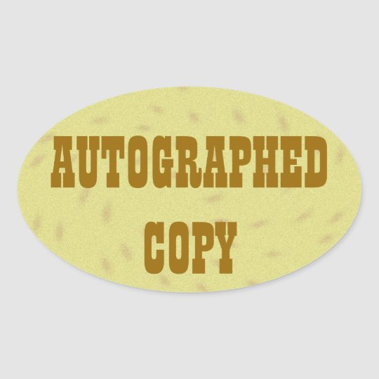 Autographed Copy - Oval Stickers (6)