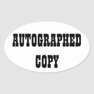 Autographed Copy - Oval Stickers (9)