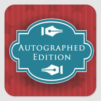 Autographed Edition Rectangle Sticker
