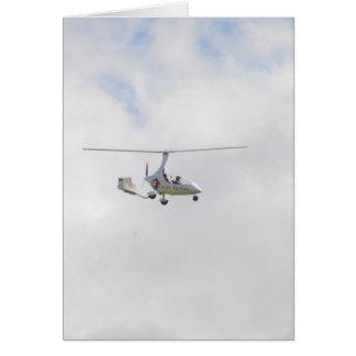 Autogyro Greeting Card