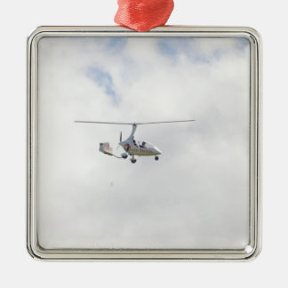 Autogyro Square Metal Christmas Ornament