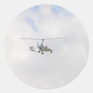 Autogyro Round Stickers