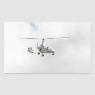 Autogyro Rectangular Sticker