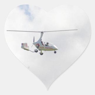 Autogyro Heart Sticker