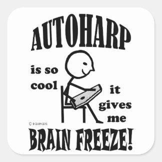 Autoharp, Brain Freeze Square Sticker