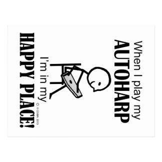 Autoharp Happy Place Postcard