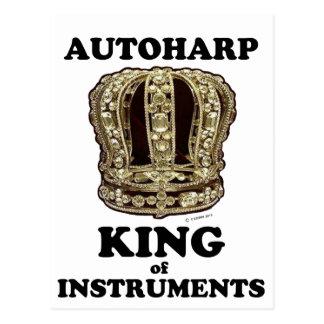 Autoharp King of Instruments Postcard