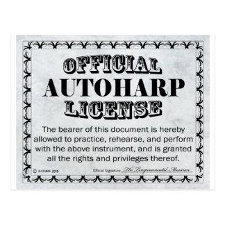 Autoharp License Postcard