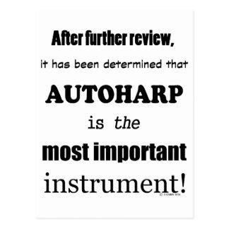 Autoharp Most Important Instrument Postcard