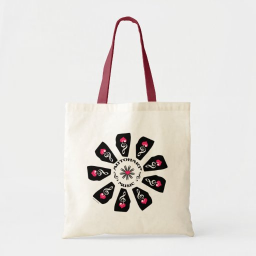Autoharp Music Flower Budget Tote Bag