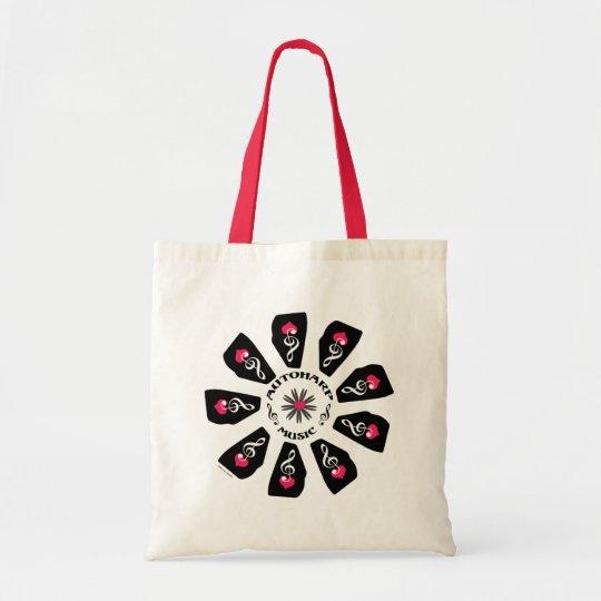 Autoharp Music Flower Tote Bag