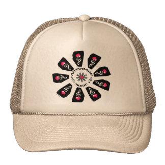 Autoharp Music Flower Trucker Hat