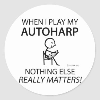 Autoharp Nothing Else Matters Classic Round Sticker