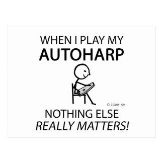 Autoharp Nothing Else Matters Postcard