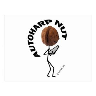 Autoharp Nut Postcard