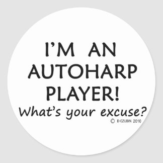 Autoharp Player Excuse Classic Round Sticker