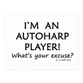 Autoharp Player Excuse Postcard