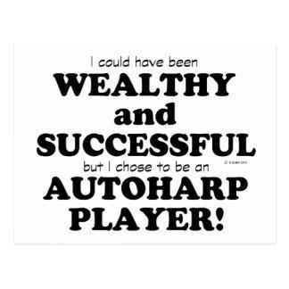 Autoharp Wealthy & Successful Postcard