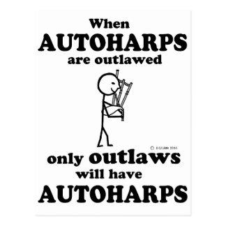 Autoharps Outlawed Postcard