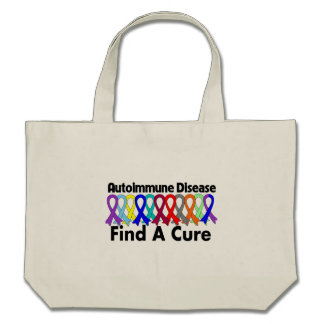 Autoimmune Disease Find A Cure Canvas Bags