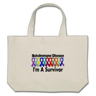 Autoimmune Disease I Am A Survivor Canvas Bags