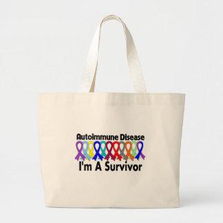 Autoimmune Disease I Am A Survivor Tote Bags