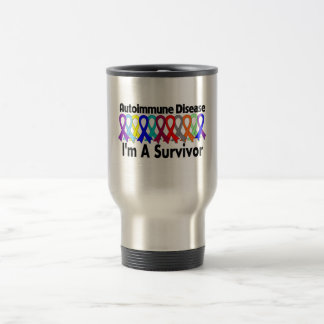 Autoimmune Disease I Am A Survivor 15 Oz Stainless Steel Travel Mug