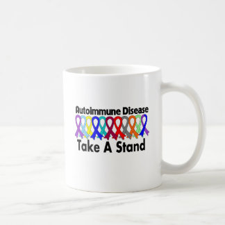 Autoimmune Disease Take A Stand Classic White Coffee Mug