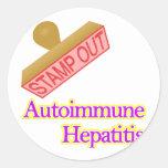 Autoimmune Hepatitis Round Sticker