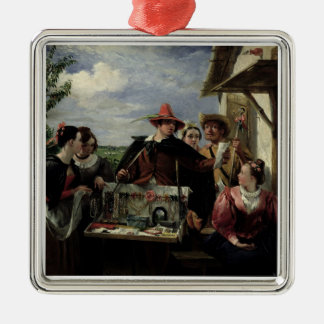 Autolycus, scene from 'A Winter's Tale', 1836 (oil Metal Ornament