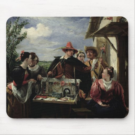 Autolycus, scene from 'A Winter's Tale', 1836 (oil Mouse Pad