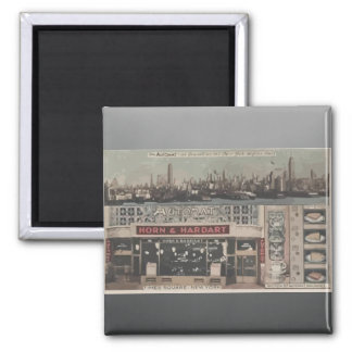 Automat Horn & Hardart Time Square New York, Vinta 2 Inch Square Magnet